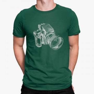 Camiseta Cámara Fotográfica Dibujada