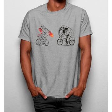 Camiseta Elefante & Astronauta en Bicicleta