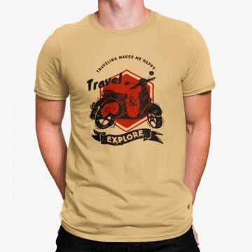 Camiseta Vespa Moto Viajar Explorar