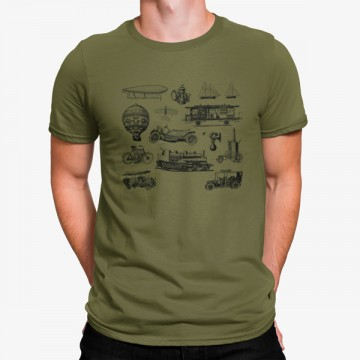 Camiseta Medios de Transporte Vintage