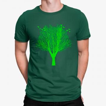 Camiseta Árbol Minimalista Pájaros