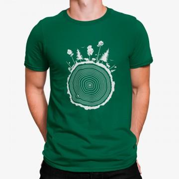 Camiseta Bosque Tronco Árbol
