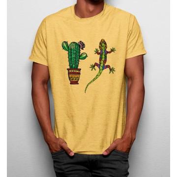 Camiseta Cactus Lagarto Étnico