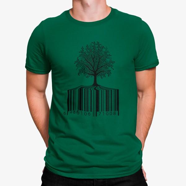 Camiseta Código de Barras Árbol