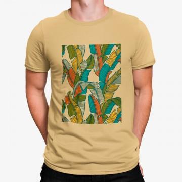 Camiseta Hojas Coloridas Artísticas