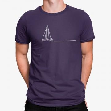 Camiseta Vela Minimalista