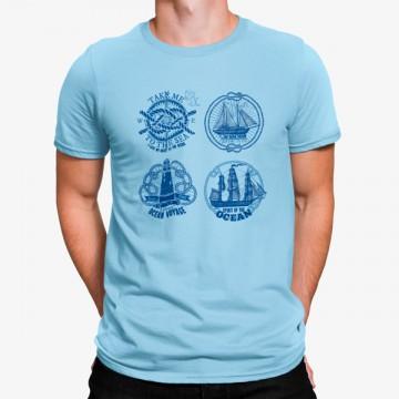 Camiseta Buque Carabela Mar