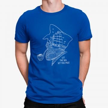 Camiseta Capitán Embarcación Minimalista