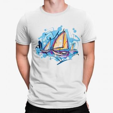 Camiseta Vela Dibujo Artístico