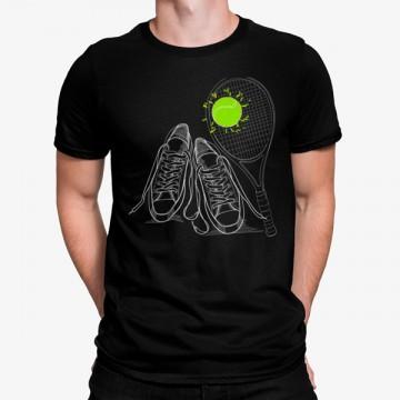 Camiseta Raqueta Pelota de Tenis