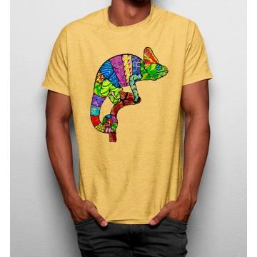 Camiseta Camaleón Colores en Tronco