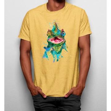 Camiseta Camaleón Colorido Acuarela