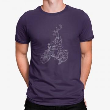 Camiseta Ciervo en Bicicleta Artístico