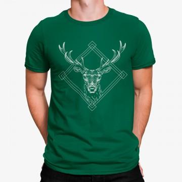 Camiseta Ciervo Geométrico Artístico