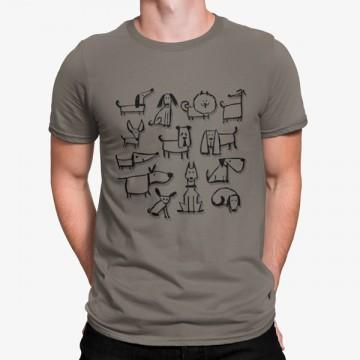 Camiseta Vários Tipos Perros