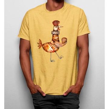 Camiseta Gallo Divertido Pintura