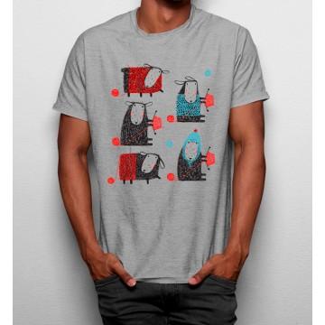 Camiseta Oveja a Tejer Prendas de Lana