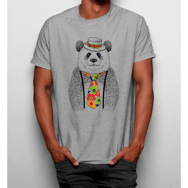 Camiseta Oso Hippie Corbata de Flores