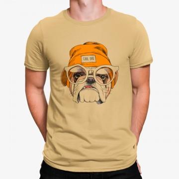 Camiseta Perro Bulldog de Gorra