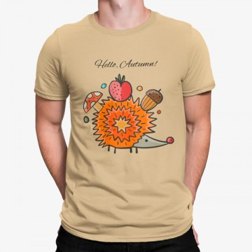 Camiseta Hola Otoño Erizo Animales