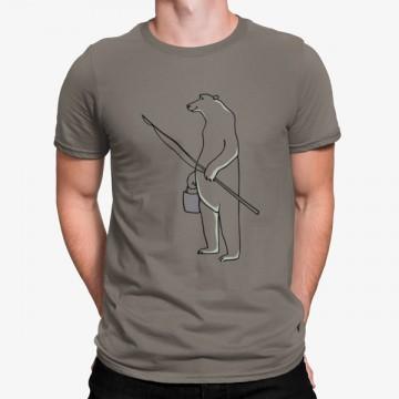 Camiseta Oso Polar Pescar