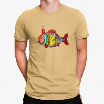 Camiseta Pece Pescado Arabe Shisha