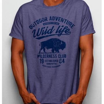 Camiseta Vida Selvaje Bufalo Aventura