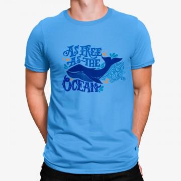 Camiseta Ballena Tan Libre Como el Océano