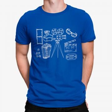 Camiseta Cámara Palomitas Dibujo