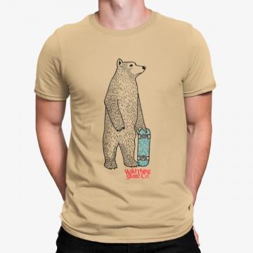 Camiseta Skate Oso