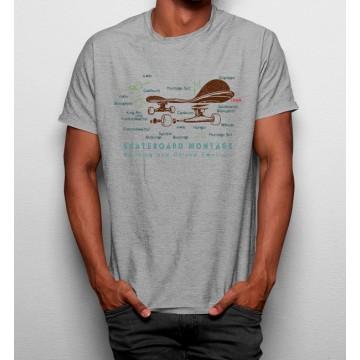 Camiseta Skate Partes