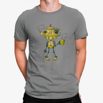 Camiseta Robot Taza Café