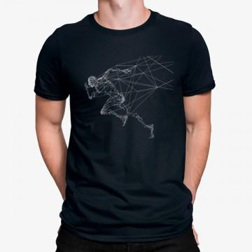 Camiseta Correr Hombre Líneas