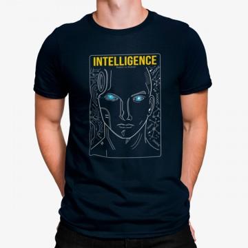 Camiseta Robot Cara Inteligencia