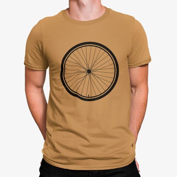 Camiseta rueda de bicicleta