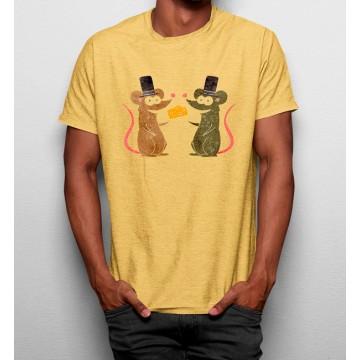Camiseta Ratones comiendo Queso