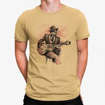Camiseta Hombre Tocando la Guitarra