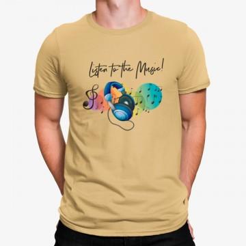 Camiseta Escucha Música Auriculares