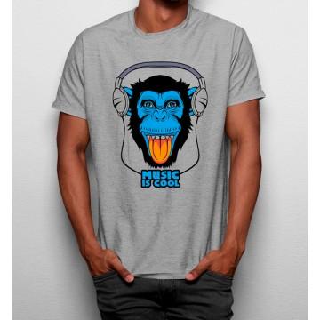 Camiseta Mono Música es Divertida