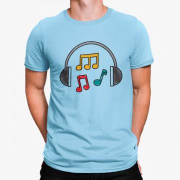Camiseta Auriculares Música