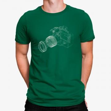 Camiseta Máquina Fotografica Minimalista
