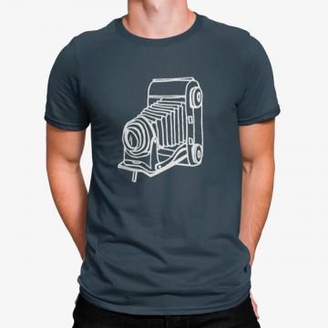 Camiseta Máquina Fotográfica Vintage