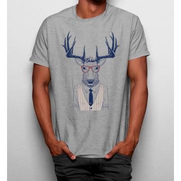 Camiseta Ciervo Gafas Hipster