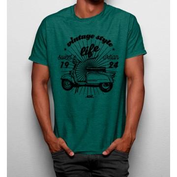 Camiseta Estilo de Vida Vintage Moto Vespa