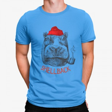Camiseta Hipopótamo Marinero con Pipa