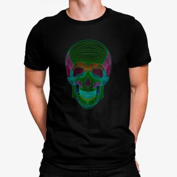 Camiseta Calavera Néon