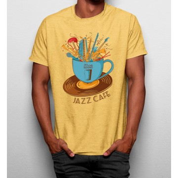 Camiseta Taza Café Jazz