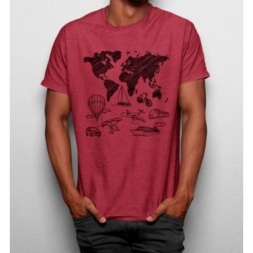 Camiseta Mapa Mundo Viajar