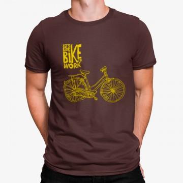 Camiseta Vamos en Bicicleta al Trabajo