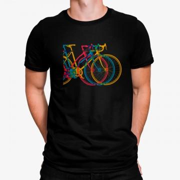 Camiseta Tres Bicicletas Coloridas